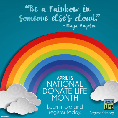 donate life month rainbow