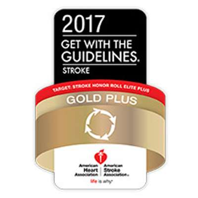 2017 Get With The Guidelines®-Stroke Gold Plus Quality Achievement Award with Target: Stroke Honor Roll Elite Plus