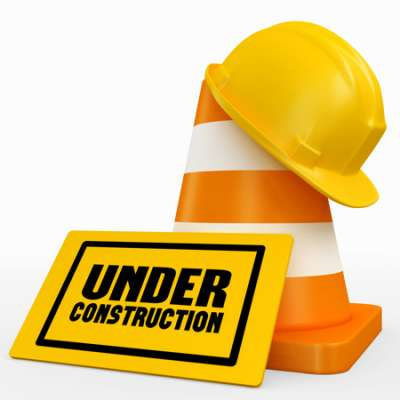construction sign and hat