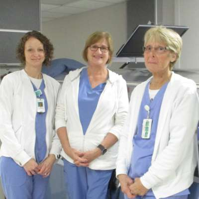 three wound care nurses
