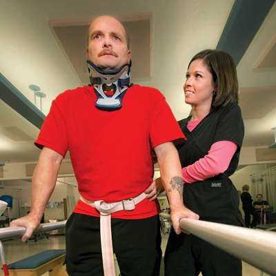 Rehabilitation patient Dan Watts